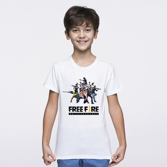 Remera De Free Fire 3.0 Para Niños Sublimada Estampada