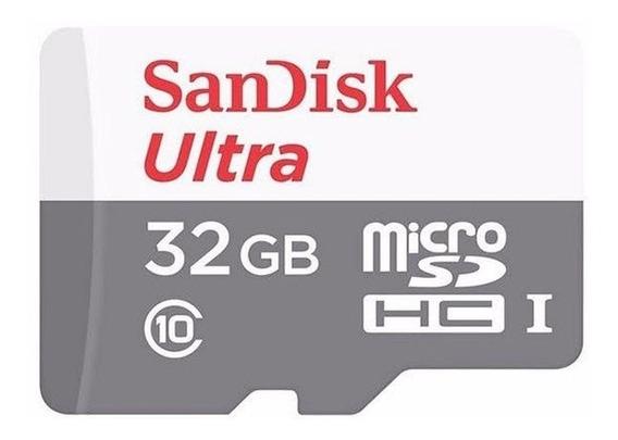 Cartão Memoria Microsd 32gb Sandisk Classe10 80mb/s Ultra Nf