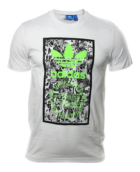 Playera adidas Originals Blanco Tongue Bq7696 Look Trendy