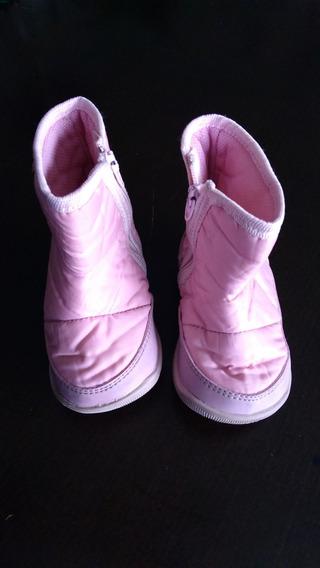 Botas Botitas De Nena En Color Rosa. Talle 18 Preciosas