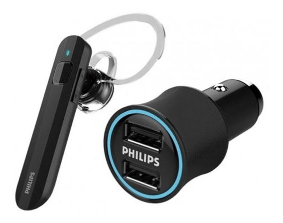 Fone Ouvido Bluetooth Philips Shb1613m + Carregador Veicular