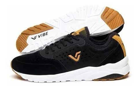 Tênis Sneaker Vibe Crew Preto Original Importado Promoção