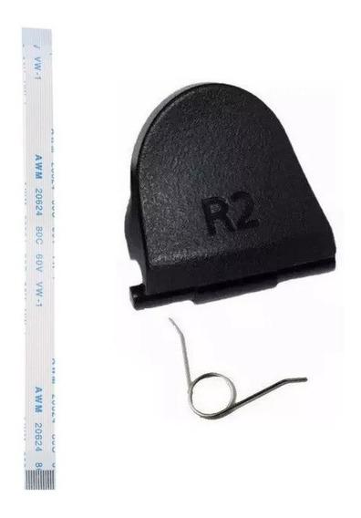 2 Botão 1 R2 Mola Dualshock Playstation 4 1 Flat 14 Vias
