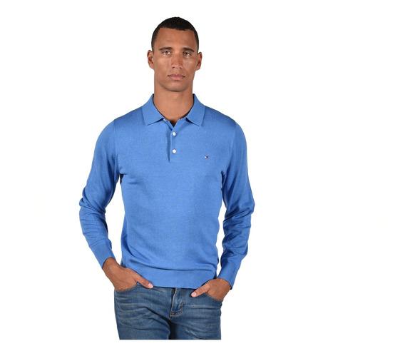 Suéter Cotton Silk Tommy Hilfiger Azul Mw0mw06704-492 Hombre