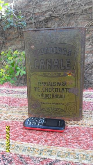 Buen Antigua Latas De Galletitas Canale 1955 ?