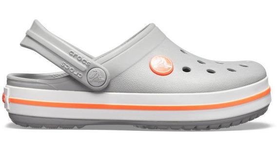 Crocs Crocband Clog Kids - Light Grey/bright Coral