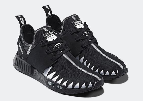 Tenis adidas Nmd R1 Neighborhood Core Black Br39 Frete Grati