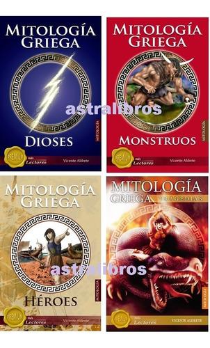 Paquete 4 Mitología Griega Héroes Dioses Monstruos Tragedias