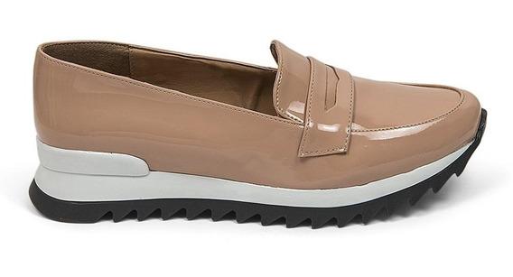Zapatos Flats Dama Charol Deportivo Nude 8311