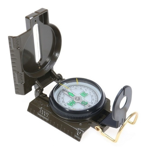 Brújula Militar Lensatic Dial Flotante Luminoso Alta Calidad