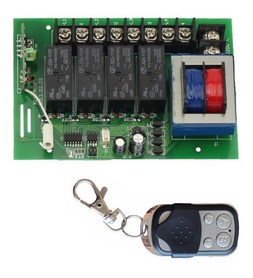 Chave Interruptora Liga Desliga Controle Remoto 4 Canais 220