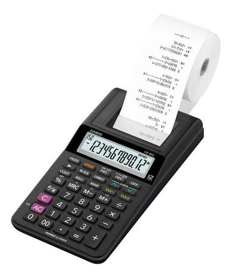 Calculadora Miniprint Casio Hr-8rc Color Negra Con Papel