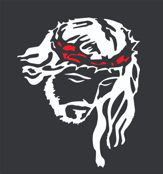Adesivo Face Cristo, Para Carro Caminhão, Fácil Aplicação