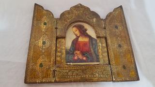 Relicário Nossa Senhora Em Dourado