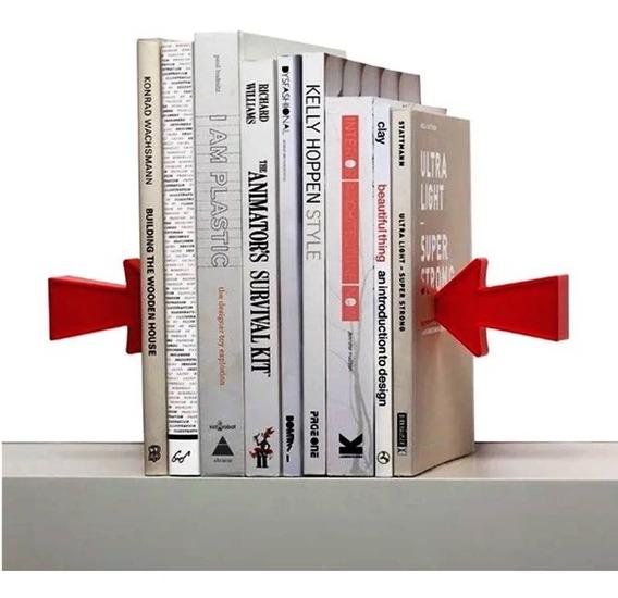 Soporte Sujeta Libros Flecha Imantado Organizador Biblioteca
