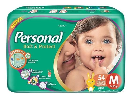 Fraldas Descartáveis Personal Baby Tamanho M 162unidades