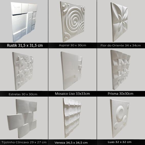 Forma 3d Borracha E Plástico Placa Gesso 3d - Você Escolhe
