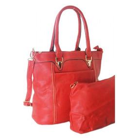 Kit Com 2 Lindas Bolsas Feminina Couro W091re