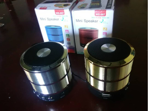 Mini Cornetas Con Bluetooth, Usb, Micro Sd, Radio Fm