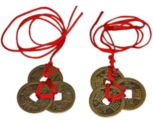 Monedas Chinas De Feng Shui Para Riqueza Y Éxito - 2 Juegos