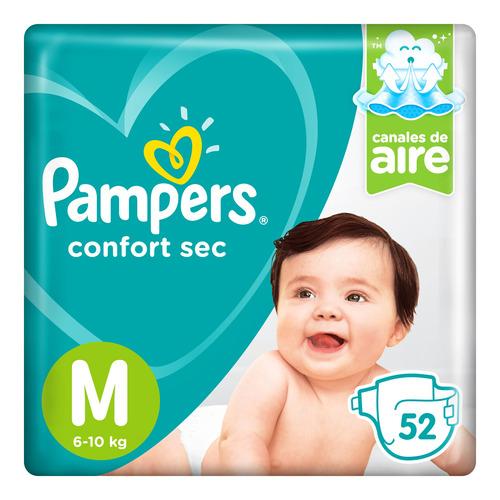 Pañales Pampers Confort Sec  M 52u