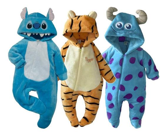 Kit 3 Mamelucos Disney Sulley, Stitch,tigger A Precio De 2