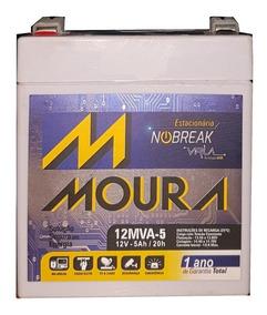 Bateria Moura Estacionária P/ No-breack Alarme 12mva-5 - 5a