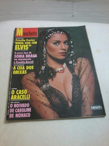 Manchete Sonia Braga Pele Paulo Autran Elvis E Priscilla