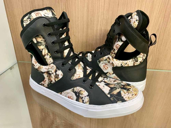 Tênis Hardcore Footwear Bota Couro- Sneaker Masculino Treino