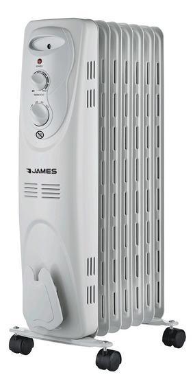 Radiador De Aceite James 7 Elementos 1500w Blanco - Vía Conf