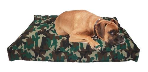 Imagen 1 de 3 de Colchón Estampado Antidesgarro 90x60x10 Para Mascotas Perros