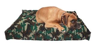 Colchón Estampado Antidesgarro 90x60x10 Para Mascotas Perros