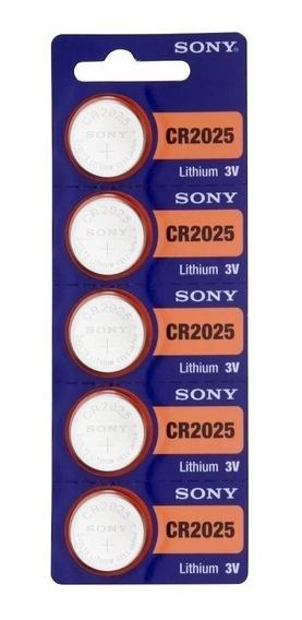 5 Baterias Pilha Sony Cr 2025 Bateria Relogio Original