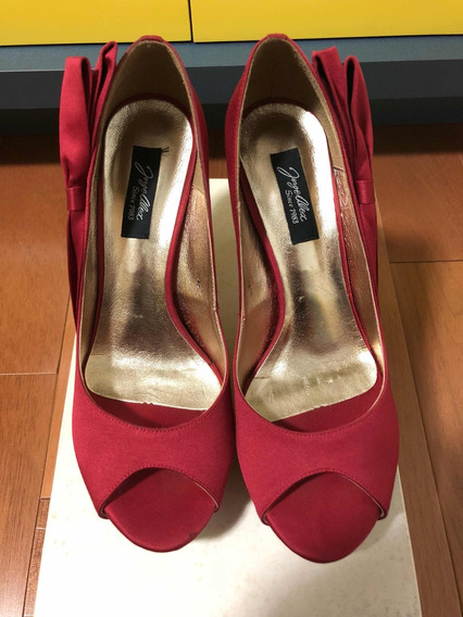 Sapato Peep Toes Jorge Alex N.36 Vermelho Feminino