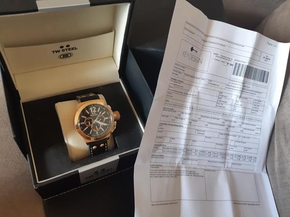 Relógio Tw Steel Ceo Chronograph Rose Gold Na Caixa Com Nf