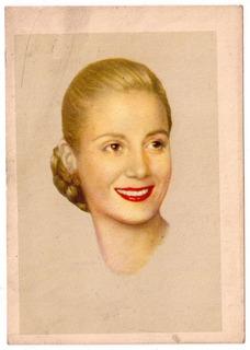Peronismo Tarjeta Ilustrada Evita Eva Peron