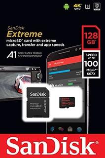 Cartão De Memoria Microsd Sandisk Extreme Pro 128gb