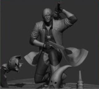 Muñeco, Figura De Acción Dante, Devil May Cry, 8:1 Imp.3d