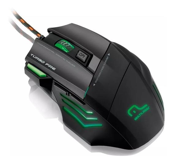 Mouse Multilaser Gamer Profissional Warrior 7 Botões 3200dpi