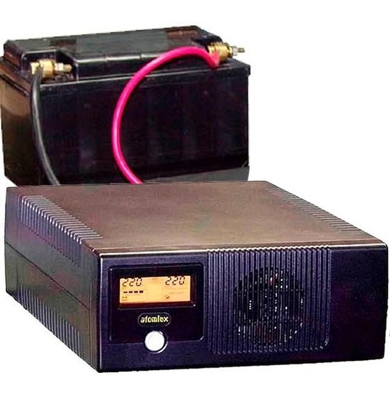Ups Inversor Atomlux 800va 12/220v Para Bateria Externa