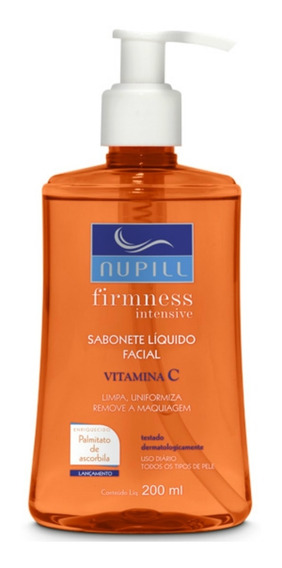 Sabonete Líquido Facial Nupill Vitamina C 200ml