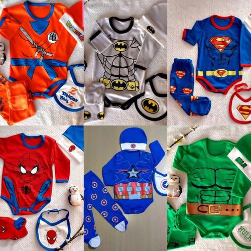 Ajuar Ropa De Bebe Super Heroes Ajuar Capitan America