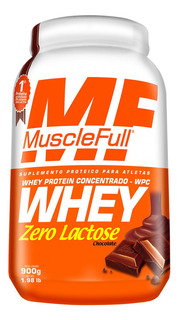 Whey Zero Lactose Wpc (900g) - Muscle Full - Chocolate