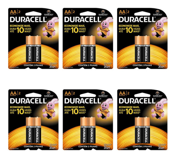 Duracell Pequena Pilha Aa C/2 (kit C/06)