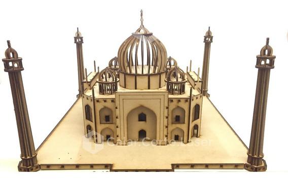 Taj Mahal Rompecabeza Puzzle 3d Maqueta Para Armar Mdf Fibro
