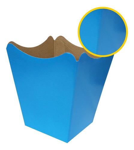Imagem 1 de 1 de 10 Cachepô Grands Pote 15 Papel Flor Decoração Azul Celeste