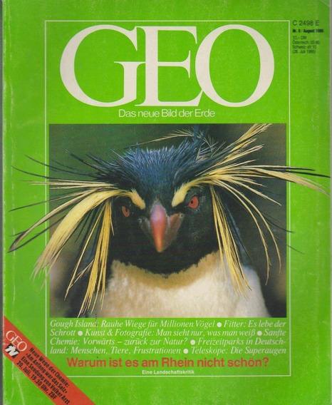 Revista Geo Nr. 8 August 1986 Germany