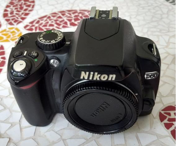 Nikon D60, Com Bateria E Carregador + Af-s 18-55 3.5-5.6 G