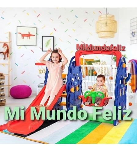 Imagen 1 de 3 de Juegos Con Columpios Resbaladera Tobogan Basquet Niño Bebe