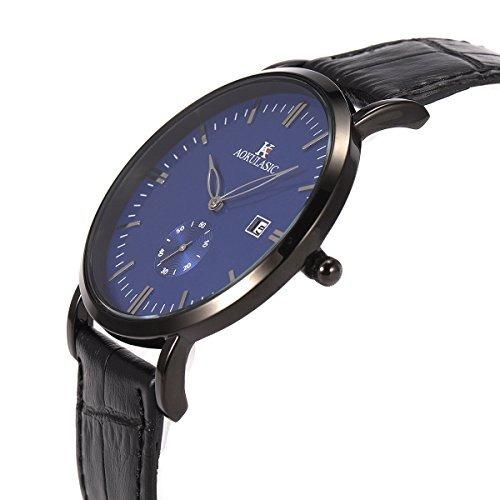 d53627d572a9 Sibosun Reloj De Pulsera Hombres Ultrafino Cuarzo Japonés ...